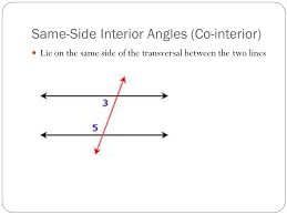 Same Side Interior Angles Definition Geometry Properties Of Equality And Congruence And Proving Lines Parallel