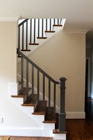 model staircase oak rails with abbott wades white twisted newels