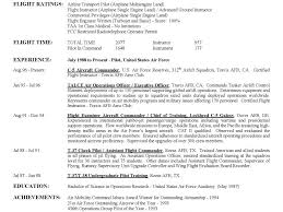 Air Force Resume Samples by Pilot Resumepilot Resume Template Cdl Resume Aircraft Pilot
