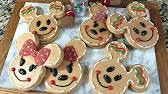 mickey mouse holiday cookies how to youtube