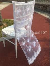 2017 white lace wedding chair covers floral chair dresses chair