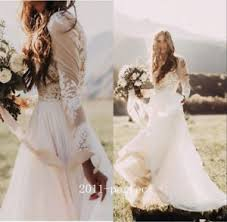 country wedding dresses bohemian country wedding dress sheer sleeve a line lace