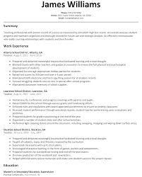 Resume Examples For Students by Teacher Resume Sample Resumelift Com