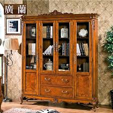 Wooden Bookcase With Glass Doors Wood Bookcase With Glass Doors Bancdebinaries