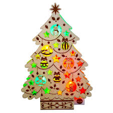 wooden tree lights melody pop up