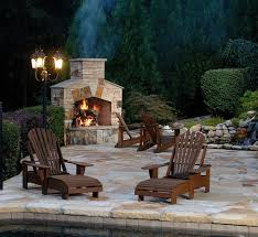 outdoor stone fireplace 15 outdoor stone fireplaces to love home design lover