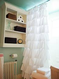 bathroom tan four ruffle shower curtain for bathroom decoration ideas