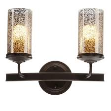 Gold Bathroom Vanity Lights by Volume Lighting Bristol 2 Light Vintage Bronze And Antique Gold