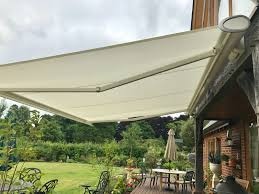 Electric Awning Weinor Patio Awning Fitted In Wiltshire Awningsouth