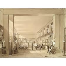 exeter hall strand london perspective sketch of a room as