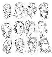 sketches faces in the crowd w p morse cartoons