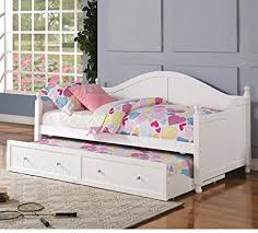 Daybed Trundle Bed White Wooden Daybed With Trundle By Coaster Furniture