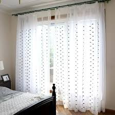 Sheer Embroidered Curtains Black And White Leaf Embroidered Sheer Curtains