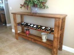 sofa table with wine rack sofa table with wine storage reclaimed barn wood wine rack table by