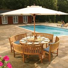 Patio Dining Set With Bench Fabulous Transitional Patio Teak Bench Dining Set Is Bench Dining