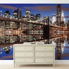new york brooklyn bridge night wall paper mural buy at europosters price from