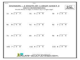 single digit division worksheets koogra