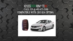 how to replace kia optima key fob battery 2013 youtube