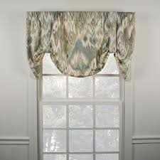 Tie Up Valance Curtains Ellis Curtain Terlina Spa Tie Up Valance Free Shipping Today