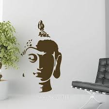 hot buddha head silhouette wall art stickers decal home diy hot buddha head silhouette wall art stickers decal home diy decoration wall mural bedroom decor wall