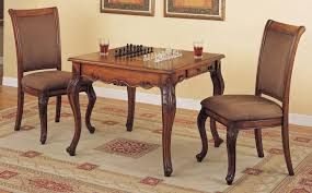 game table and chairs in mahogany finish powell game set 1252