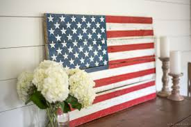 American Flag Picture Rustic Pallet Wood American Flag