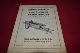 allis chalmers 95 a manure spreader operator u0027s manual dcpa6 ver3