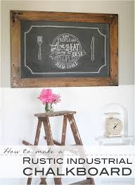 chalkboard kitchen wall ideas diy rustic industrial chalkboard love grows wild