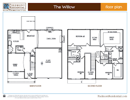 Willow Floor Plan by Willow Piedmont Residential Home Builder In Canton Ga