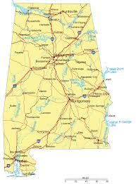 City And State Map Of Usa by Large Detailed Highways Map Of Alabama With Major Cities Alabama