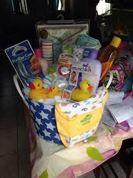 Baby Bath Tub With Shower Rubber Duck Bath Tub Baby Shower Gift Basket Filled With Cotton
