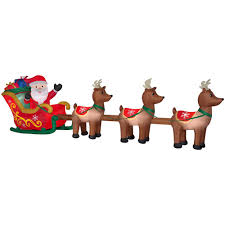 christmas inflatables outdoor christmas decorations home depot