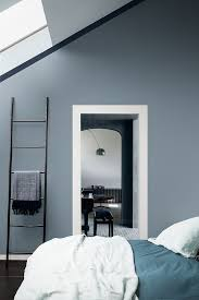 the warm grey tones of denim drift will make any bedroom more