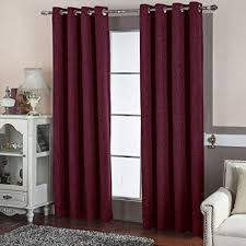 maroon curtains for bedroom modern bedroom curtains amazon com