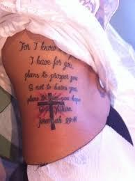 finally got my jeremiah 29 11 tattoo touched up
