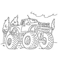 10 wonderful monster truck coloring pages toddlers