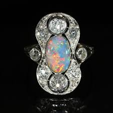 black opal engagement rings stunning edwardian black opal and diamond ring from