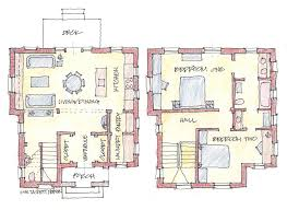 floor plans for a detached single family house proposed for the
