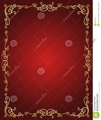 Wedding Invitation Card Free Download Wedding Invitation Border In Red And Gold Stock Image Image