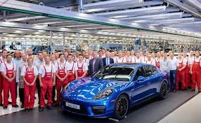 widebody porsche panamera final first gen porsche panamera rolls off production line