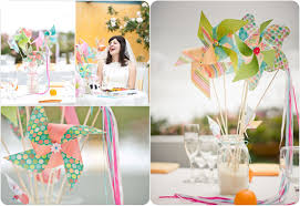pinwheels centerpiece ideas cheap wedding diy venuelust paper