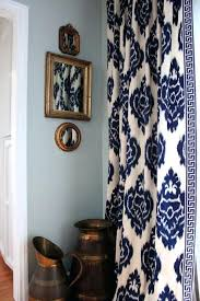 Navy And Grey Curtains Gray Blue Curtains The Curtains Navy Blue And White Pattern