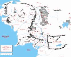 Map Of Mordor Third Age Maps Tolkien Forums