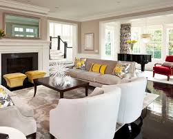 Transitional Living Room Design Ideas Remodels  Photos With A - Transitional living room design