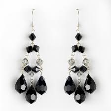 Chandelier Earrings Earrings 32 Black Chandelier Earring Black Crystal Chandelier Earrings For