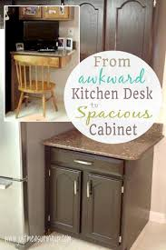 Kitchen Desk With Hutch Transforming A Kitchen Desk Into Cabinet Space Tutorial