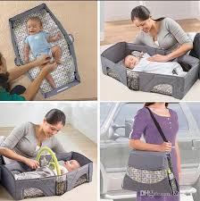 2018 baby travel bed foldable cot sleeping basket folding playpen