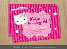 free hello kitty printable invitations template hello kitty love
