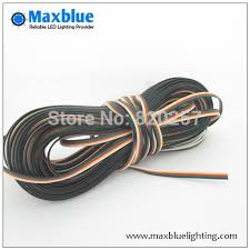 aliexpress com buy 10m 22awg black green red yellow white 5pin