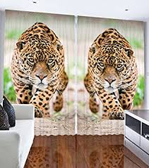 Curtains And Drapes Amazon Amazon Com Curtains And Drapes Animal Print Decor By Ambesonne